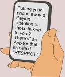 PUT AWAY YOUR PHONE
