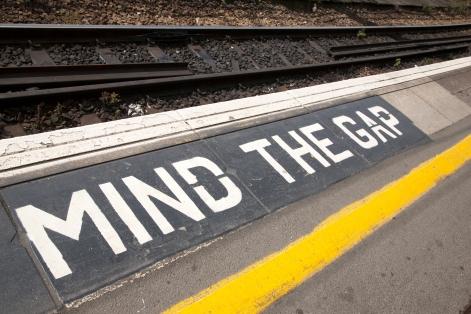 Mind the Gap Platform Sign