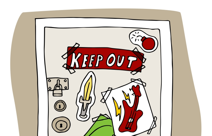 Teenager Keep Out Signs